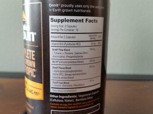 Alpha Brain Label Ingredients